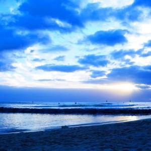 ハワイの夕暮